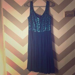 Spenser sequin top semi formal dress